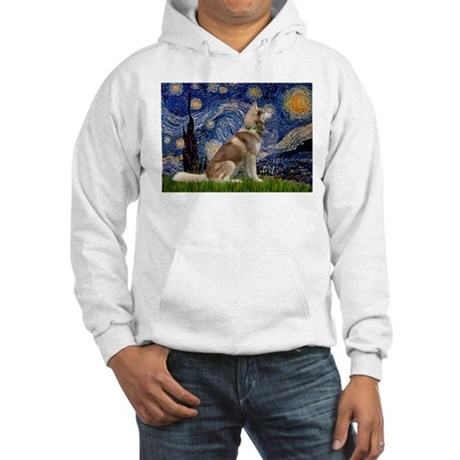 Starry Night & Husky Hooded Sweatshirt