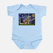 Starry Night & Husky Infant Bodysuit