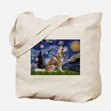 Starry Night & Husky Tote Bag