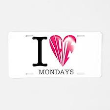 Mondays Aluminum License Plate