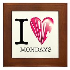 Mondays Framed Tile