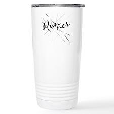 Abstract Runner Travel Mug