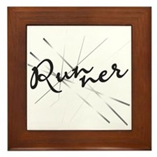 Abstract Runner Framed Tile