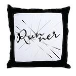 Abstract Runner Throw Pillow