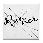 Abstract Runner Tile Coaster