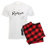 Abstract Runner Men's Light Pajamas