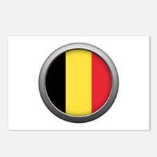 Round Flag - Belgium Postcards (Package of 8)