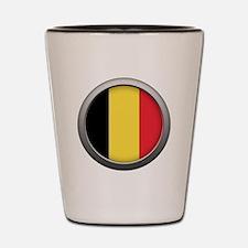 Round Flag - Belgium Shot Glass