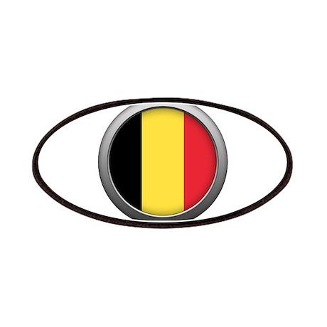 Round Flag - Belgium Patches