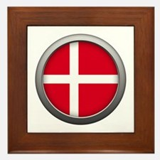 Round Flag - Denmark Framed Tile