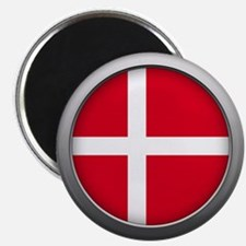 Round Flag - Denmark Magnet