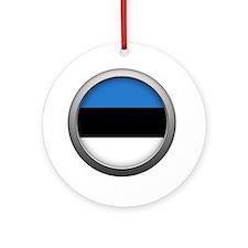 Round Flag - Estonia Round Ornament