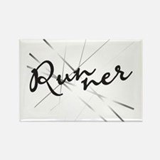 Abstract Runner Rectangle Magnet