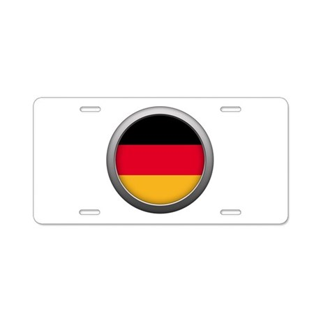Round Flag - Germany Aluminum License Plate