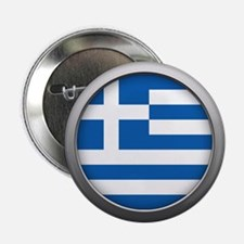 "Round Flag - Greece 2.25"" Button (100 pack)"