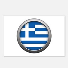 Round Flag - Greece Postcards (Package of 8)
