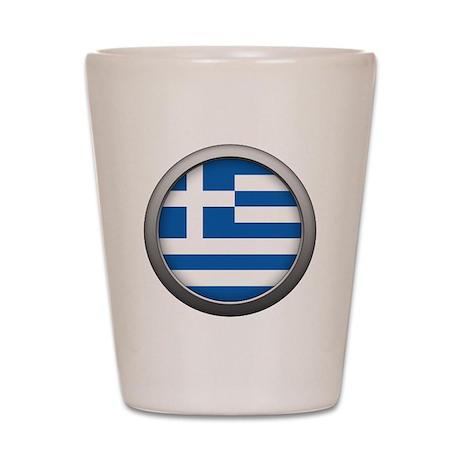 Round Flag - Greece Shot Glass