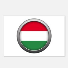 Round Flag - Hungary Postcards (Package of 8)