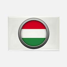 Round Flag - Hungary Rectangle Magnet