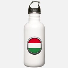 Round Flag - Hungary Water Bottle