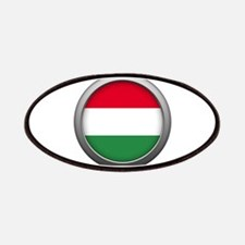 Round Flag - Hungary Patches