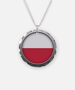 Round Flag - Poland Necklace
