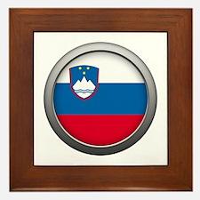 Round Flag - Slovenia Framed Tile