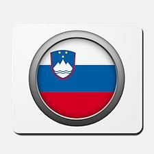 Round Flag - Slovenia Mousepad