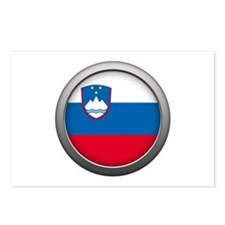 Round Flag - Slovenia Postcards (Package of 8)