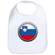 Round Flag - Slovenia Bib