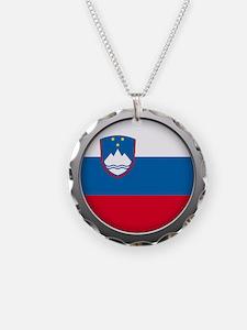 Round Flag - Slovenia Necklace