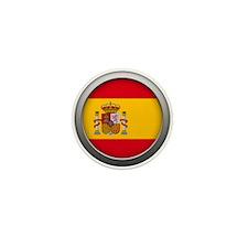 Round Flag - Spain Mini Button (10 pack)