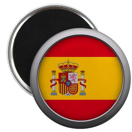 Round Flag - Spain Magnet