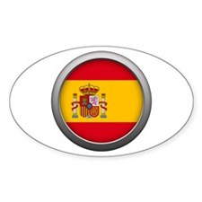 Round Flag - Spain Decal