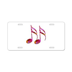 Music Notes Aluminum License Plate