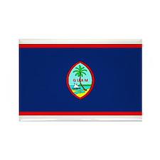 Guam Guaminian Blank Flag Rectangle Magnet (10 pac