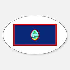 Guam Guaminian Blank Flag Oval Decal