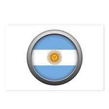 Round Flag - Argentina Postcards (Package of 8)