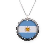 Round Flag - Argentina Necklace