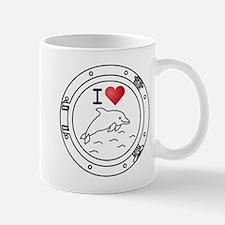 I Heart Dolphins Mug