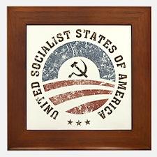 USSA Vintage Logo Framed Tile