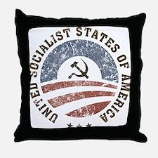 USSA Vintage Logo Throw Pillow