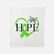 Heart of Hope Lymphoma Throw Blanket