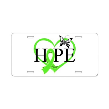 Heart of Hope Lymphoma Aluminum License Plate