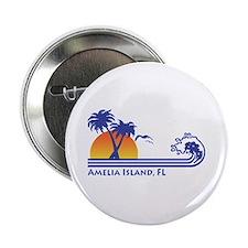 "Amelia Island Florida 2.25"" Button"