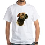 Border Terrier White T-Shirt