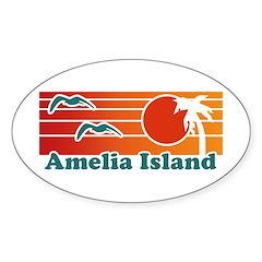 Amelia Island Sticker (Oval)