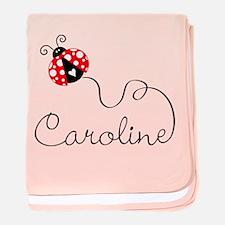 Ladybug Caroline baby blanket