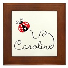 Ladybug Caroline Framed Tile