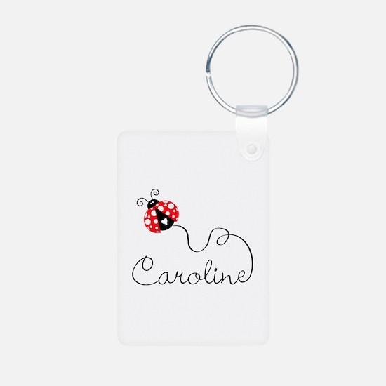 Ladybug Caroline Aluminum Photo Keychain